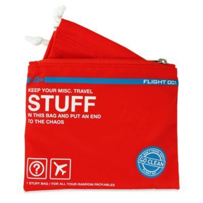 Flight 001 Go Clean Stuff Bag in Red