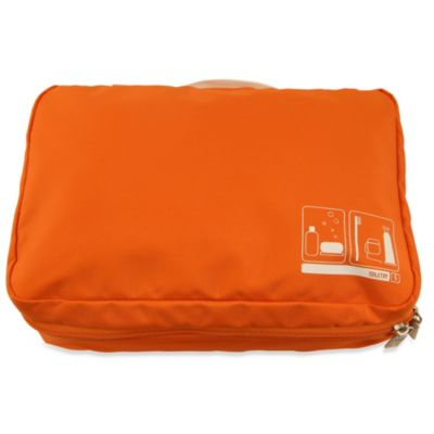 Flight 001 Spacepak Toiletry Packing Sleeve in Orange