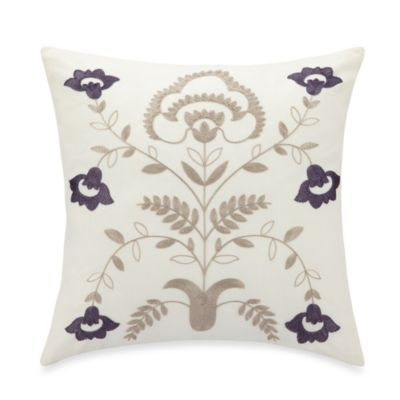B. Smith® Fredonia Embroidered Vine Square Toss Pillow