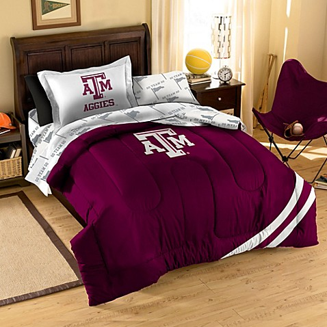 Collegiate Texas A&M University Complete Twin Bed Ensemble
