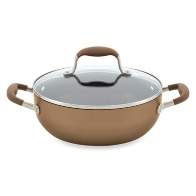 Anolon® Advanced Bronze Hard Anodized Nonstick 3.5-Quart Covered Chef's Casserole