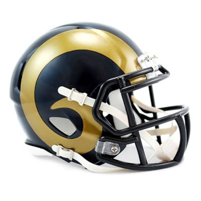 Navy Gold Football Helmet