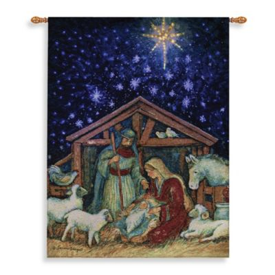 26-Inch x 36-Inch Away In A Manger Wall Tapestry