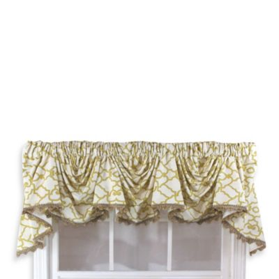 Garden Gate 3-Scoop Victory Window Curtain Swag Valance in Black