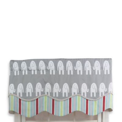 RL Fisher Elephant Glory Valance in Carnival