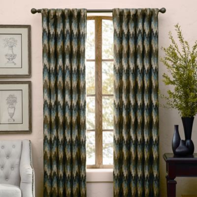 Turhan Mist Rod Pocket/Back Tab Window Curtain Panels