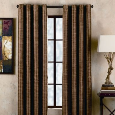 Deron Vermillion Grommet Window Panels
