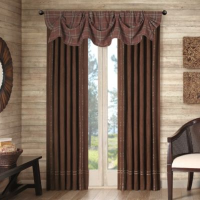Cedar Ridge Clinton Falls Lined Rod Pocket/Back Tab Window Curtain Panels