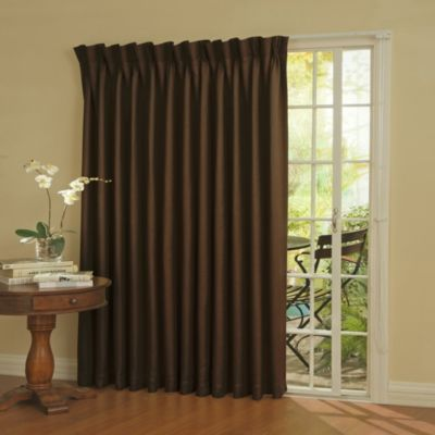 Insola Patio Door Thermal Blackout 84-Inch Window Curtain Panel in Espresso