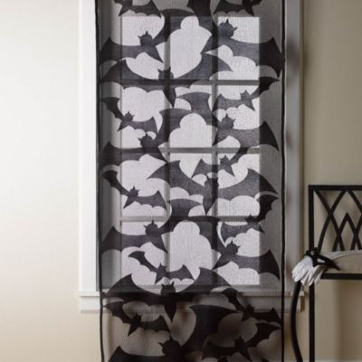 Bats Lace 80-Inch L x 36-Inch W Door/Window Decoration