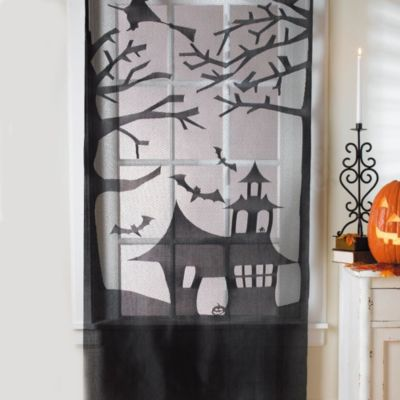 Haunted House Lace Door/Window Decoration