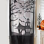 Haunted House Lace Door/Window Panel
