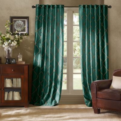 Buy Teal Window Treatments Curtains From Bed Bath Amp Beyond