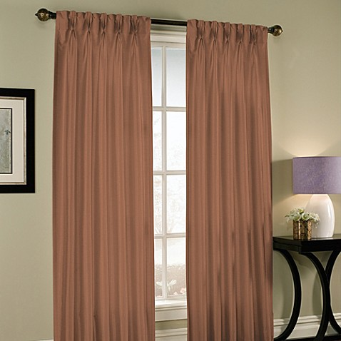 Buy Paris Pinch Pleated 95 Inch Window Curtain Panel In Cognac From Bed Bath Beyond