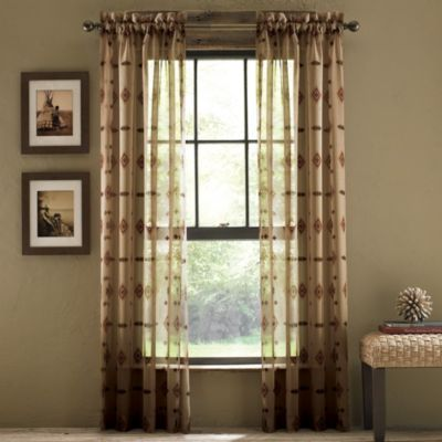 Croscill Chimayo Sheer Rod Pocket Window Curtain Panels