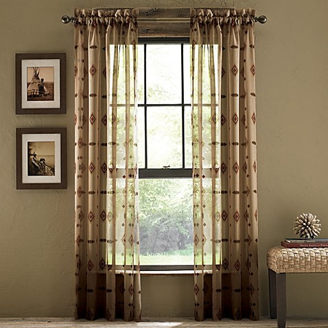 Buy croscill chimayo sheer rod pocket window curtain for Where to buy window treatments