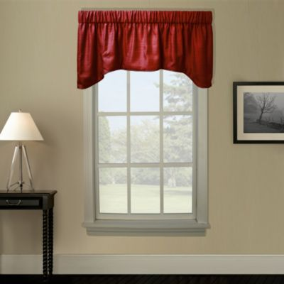 Hampton Bay Arch Valance in Crimson