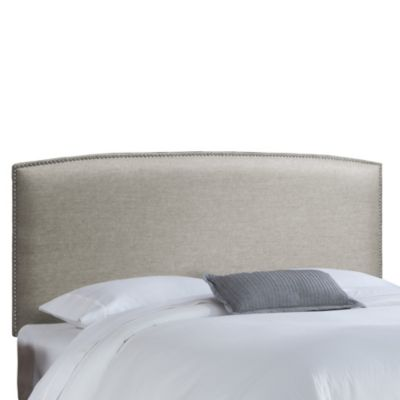 Skyline Furniture King Nail Button Headboard in Groupie Gunmetal
