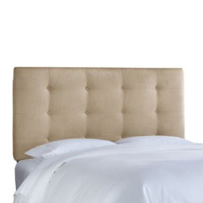 Skyline Furniture Queen Button Tufted Headboard in Premier Oatmeal