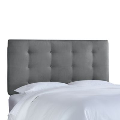 Skyline Furniture Twin Button Tufted Headboard in Premier Chocolate