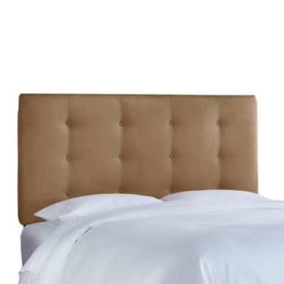 Skyline Furniture Queen Button Tufted Headboard in Premier Saddle