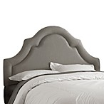 Skyline High Arch Border Headboard in Linen Grey