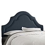 Skyline High Arch Border Headboard in Linen Navy