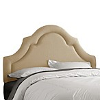 Skyline High Arch Border Headboard in Linen Sandstone