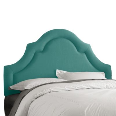 Skyline Furniture Full High Arch Border Headboard in Linen Laguna