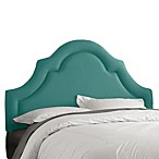 Skyline High Arch Border Headboard in Linen Laguna