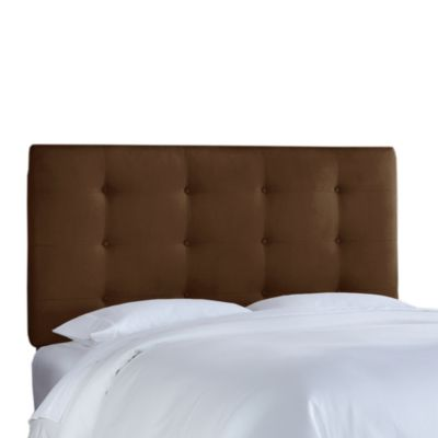 Skyline Furniture California King Button Tufted Headboard in Premier Chocolate