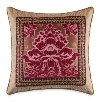 Fuchsia Square Throw Pillow
