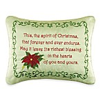 Holiday Garland Spirit of Christmas Embroidered Toss Pillow