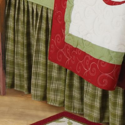 Holiday Garden Queen Bed Skirt
