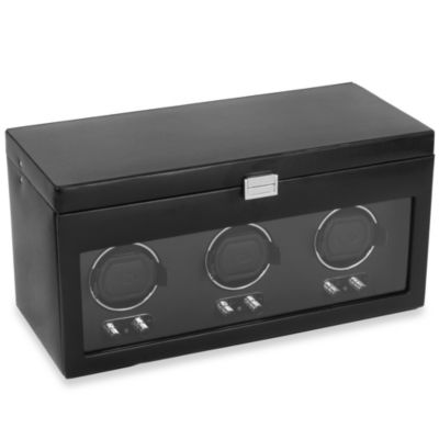 Wolf Designs Watch Winders Heritage Triple Watch Winder with Storage Case