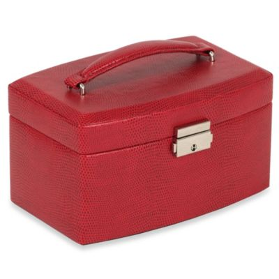 Wolf Designs South Molton Medium Jewelry Box in Red