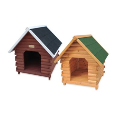 "Advantek ""Mountain Cabin"" Small Dog House in Honey"