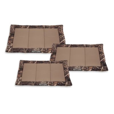Realtree® Max4 Large Camo Quilted Memory Foam Bolster Pet Mat