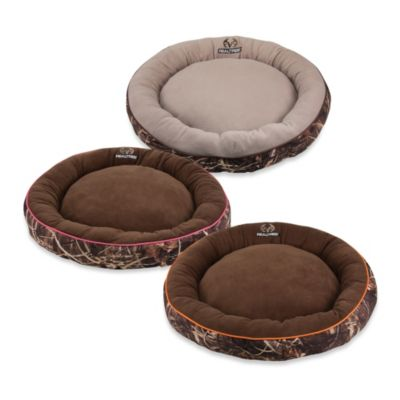 Realtree® Max4 38-Inch Round Camo Bolstered Pet Bed