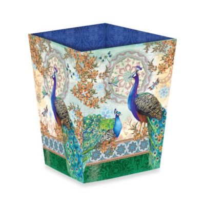 Royal Peacock Wastebasket