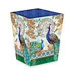 Royal Peacock Waste Basket