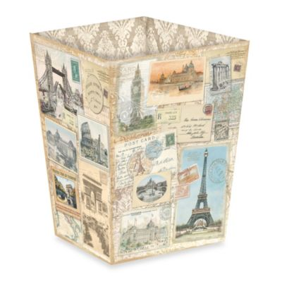 Fringe Studio World Destinations Waste Basket