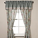Laura Ashley® Eloise Window Treatment Set in Aqua