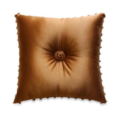Austin Horn Classics Verona 18-Inch Square Throw Pillow in Gold
