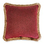Austin Horn Classics Verona Chenille 18-Inch Square Pillow in Red