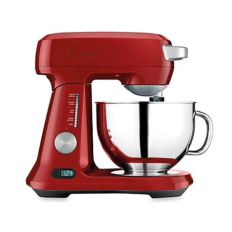 Buy breville the scraper mix pro bem800cbxl 5 quart stand mixer in cranberry red from bed bath - Kitchenaid scraper bowl attachment ...