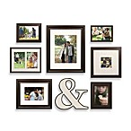 Wall Verbs 8-Piece Character Frame Set in Dark Espresso