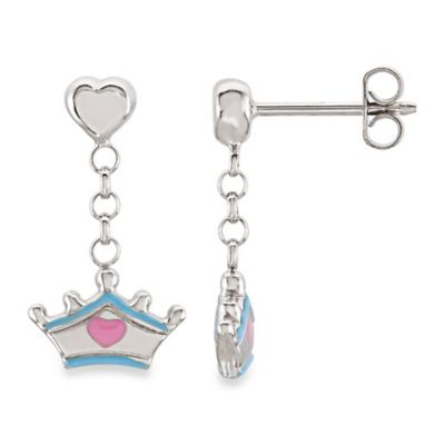 Disney® Sterling Silver Cinderella Tiara Earrings