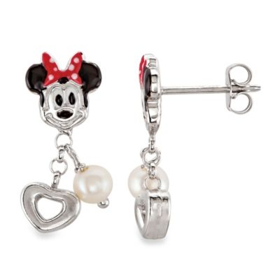 Disney® Minnie Mouse and Pearl Earrings