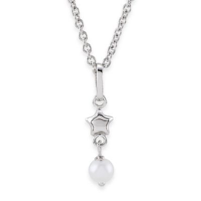 Disney® Sterling Silver Tinker Bell Pearl Necklace